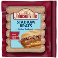 Johnsonville Stadium Brats 6 Count, 14 oz