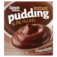 Great Value Chocolate Instant Pudding & Pie Filling, 3.9 oz