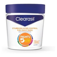 Clearasil Stubborn Acne Control - 5in1 Daily Pads 6/90ct