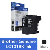 Brother Genuine Standard Yield Black Ink Cartridge, LC101BK, Replacement Black Ink, Page Yield Up To 300 Pages
