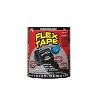 Flex Tape Rubberized Waterproof Automotive Tape, 4 Inches x 5 Feet, Black