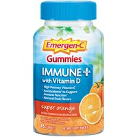 Emergen-C Immune+ Vitamin C Gummies, Super Orange, 750mg, 45 ct