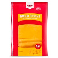 Deli Sliced Mild Cheddar Cheese - 12ct - Market Pantry™