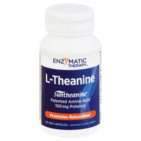 Enzymatic Therapy L-Theanine, Veg Capsules, Bottle