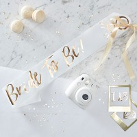 """""""Bride To Be"""" Foiled Sash Gold"""