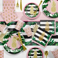 Large Pineapple Party Supplies Kit Gold And Green