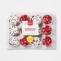 Patriotic Chocolate Mini Cupcakes 12ct - Market Pantry™