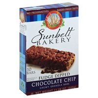 Sunbelt Bakery Granola Bars, Chewy, Fudge Dipped Chocolate Chip