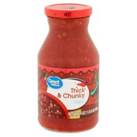 Great Value Hot Thick & Chunky Salsa, 24 oz