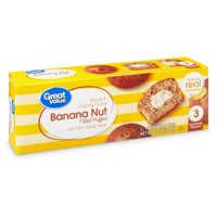 Great Value Banana Nut Filled Muffins, 12 oz, 3 Count
