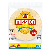 Mission Extra Thin Yellow Corn Tortillas, 24 Count