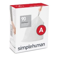 simplehuman 90ct Code A Custom Fit Trash Can Liner White