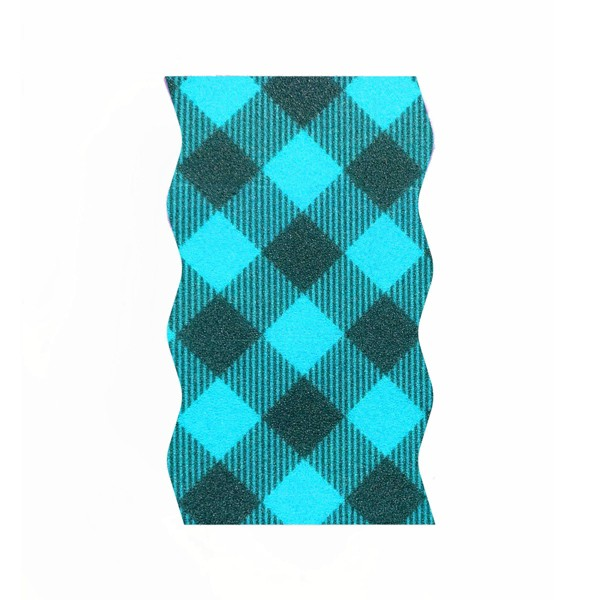Bright Box Wave Wipe Up - Blue Plaid