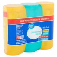 Great Value Disinfecting Wipes Multi Pack, 35 count, 10 oz, 3 pack
