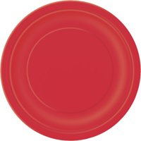 Paper Plates, 7 in, Red, 24ct