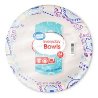 Great Value Everyday Paper Premium Bowls, 24 count