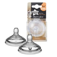 Tommee Tippee Closer to Nature Fast Flow Baby Bottle Nipples, 6+ months – 2 Count