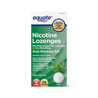Equate Nicotine Lozenges, Mint Flavor, 4 mg, 24 count