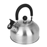Mainstays 1.8-Liter Whistle Tea Kettle, Stainless Steel