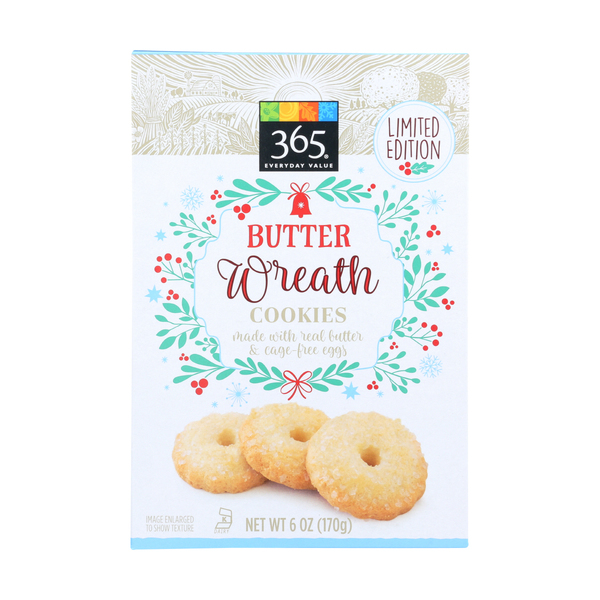 365 Everyday Value® Butter Wreath Cookies, 6 oz