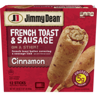 Jimmy Dean® French Toast and Sausage on a Stick, Cinnamon, 12 Count (Frozen)