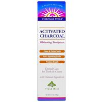 Heritage Store Activated Charcoal Fresh Mint Toothpaste
