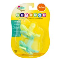 The First Years Gumdrop Pacifier Infant Pacifier 3-6m 2 Pk