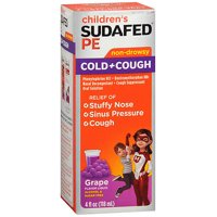Sudafed PE Children's Cold Cough Liquid Grape - 4 oz