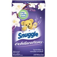 Snuggle Exhilarations Fabric Softener Sheets, Lavender & Vanilla Orchid, 70 Count