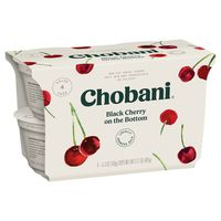 Chobani Yogurt, Greek, Non-Fat, Black Cherry, Value Pack