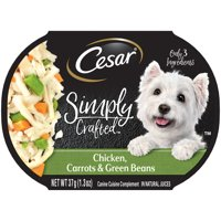 Cesar Simply Crafted Adult Wet Dog Food Cuisine Complement, 1.3 oz. Tub