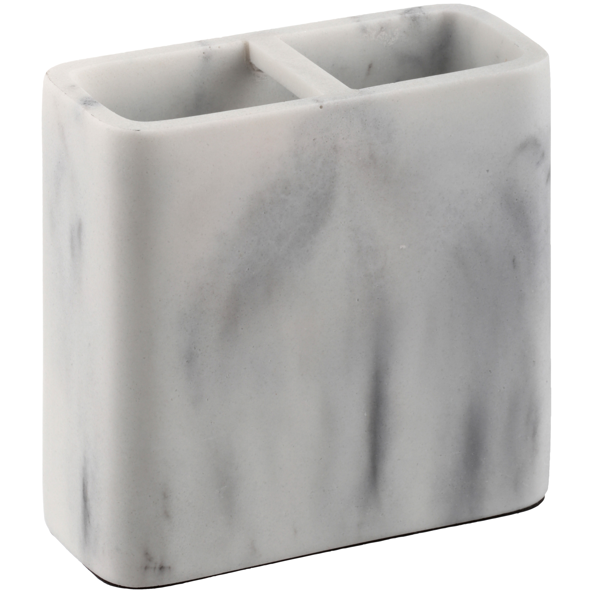 Better Homes & Gardens Faux Marble Toothbrush Holder, White