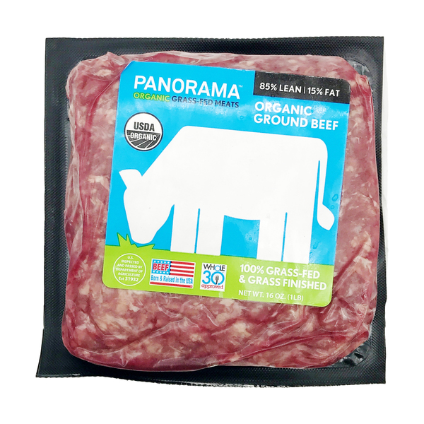 Panorama Meats Organic 100% Grass-fed 85% Lean Ground Beef, 16 oz