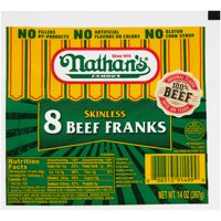 Nathan's Skinless Beef Hot Dogs, 12 oz