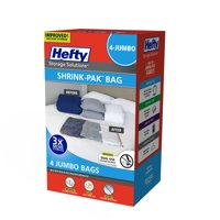 Hefty Jumbo Shrink-Pak Vacuum Seal Bags, 4-Pack