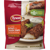 Tyson® Fully Cooked Buffalo Style Chicken Strips, 25 oz. (Frozen)