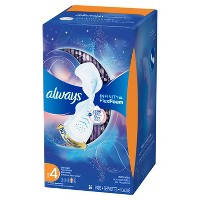 Always Infinity Size 4 Unscented Overnight Sanitary Pads with Wings - 26ct