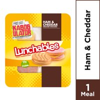 Lunchables Lunch Combinations Ham & Cheddar Cracker Stackers, 3.5 oz Package