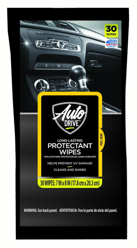 Auto Drive Long Lasting Protectant Wipes - 30 count