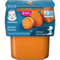 Gerber 2nd Foods Sweet Potato Baby Food, 4 oz. Tubs, 2 Count