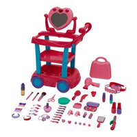 Kid Connection Beauty Cart Play Set, 53 Pieces