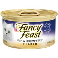 Fancy Feast Wet Cat Food, Flaked Fish & Shrimp Feast, 3 oz. Can