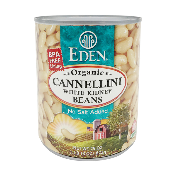 Organic Cannellini White Kidney Beans - No Salt Added, 29 oz