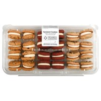 Freshness Guaranteed Variety Sandwich Cookies: Carrot Cake, Red Velvet, Chocolate Chip, 29 oz, 24 Count