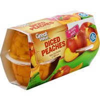 Great Value Diced Peaches in 100% Juice