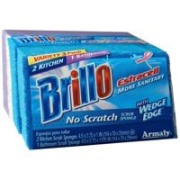Brillo Estracell Wedge Edge No Scratch Scrub Sponge, 3 Ct