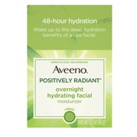 Aveeno Active Naturals Positively Radiant Overnight Hydrating Facial Moisturizer - 1.7oz