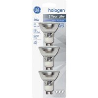 GE MR16 Indoor Halogen Floodlight Light Bulbs, 50W, 3-count