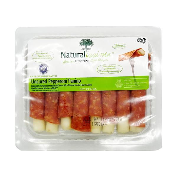 Naturalissima® Uncured Panino Pepperoni, 6 oz
