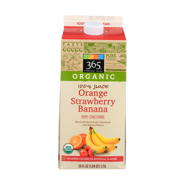 365 everyday value® Organic 100% Orange Strawberry Banana Juice, 59 FL OZ